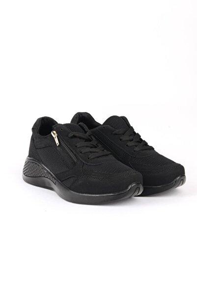 ODESA Marco Luper Unisex Fermuarlı Siyah Spor Ayakkabı