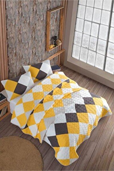 Quattro Sarı Çift Kişilik Kapitone Yatak Örtüsü