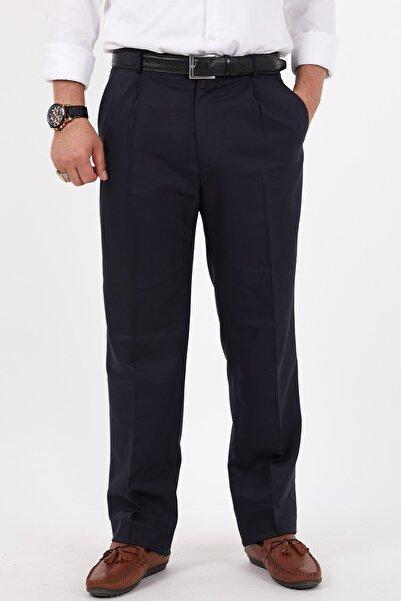 Bölünmez Erkek Büyük Beden Klasik Siyah Kumaş Pantolon