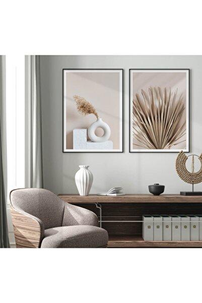 TimayOnlineMagaza Çerçeve Görünümlü 2 Parça Dekoratif Mdf Tablo Portre Seti 50x70 cm