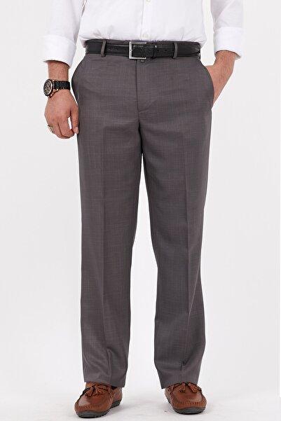 Bölünmez Erkek Büyük Beden Klasik Gri Kumaş Pantolon