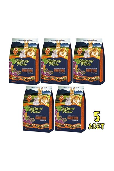 Nature Plan Premium Tavşan Yemi 800gr 5paket Skt:05/2023