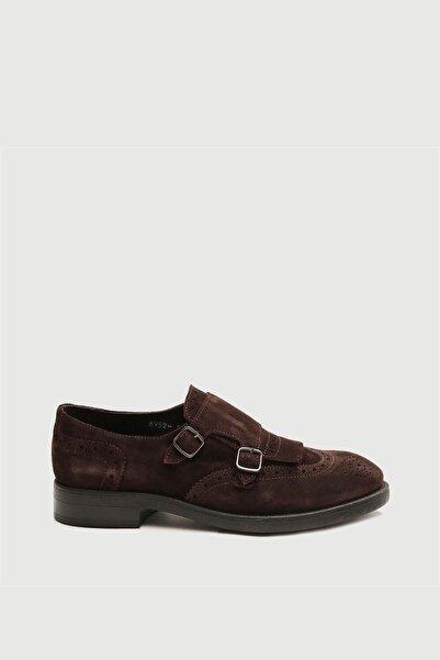 Male Industry Kahve Deri Püsküllü Tokalı Erkek Ayakkabı