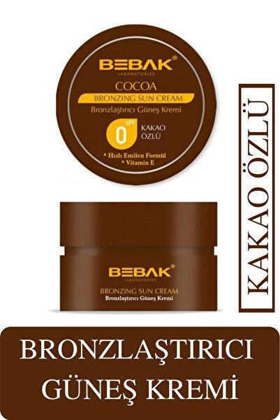 Bebak Kakao Özlü E Vitaminli Bronzlaştırıcı Güneş Kremi 100 ml Spf 0