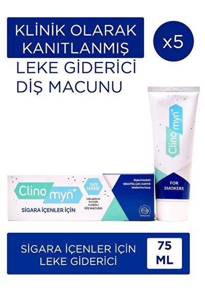 Clinomyn Sigara Içenler Için Diş Macunu 75 ml X 5 Adet