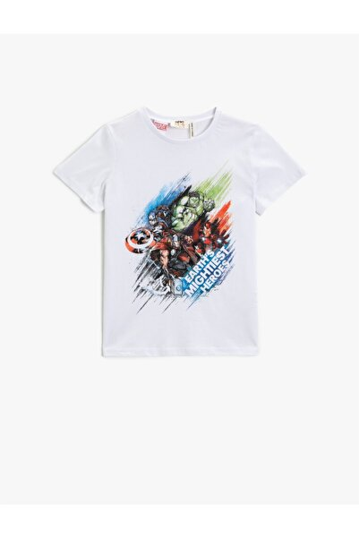 Koton Erkek Çocuk Marvel T-shirt Licensed Cotton