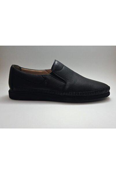 Kaşmir -299 Hakiki Deri Siyah Renk Yazlık Erkek Ayakkabısı