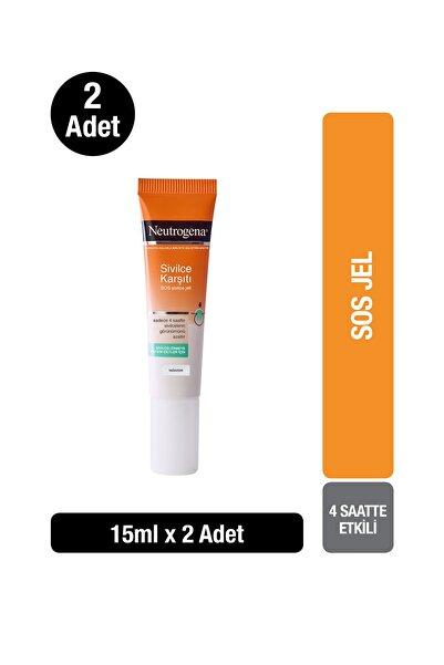 Neutrogena Visibly Clear SOS Hızlı Etkili Akne Jeli 15 ml x2
