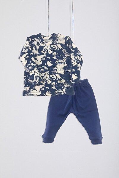 miniface Erkek Bebek 2'li Batik Baskılı Pijama Takımı (3-18 Ay)