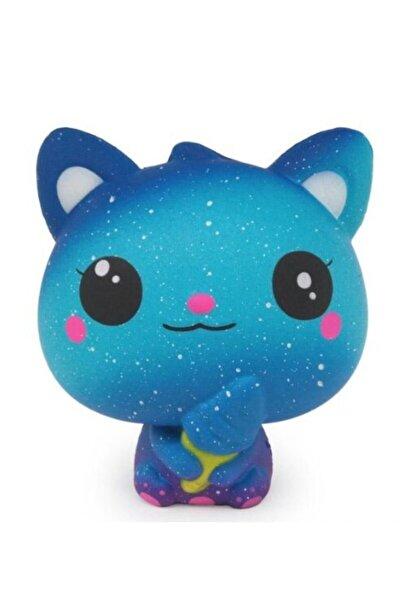 Squishy Mavi Kedi Oyuncak Yavaş Yükselen