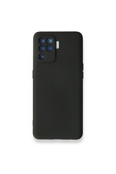OPPO Reno 5 Lite Kılıf Nano Içi Kadife Silikon - Siyah