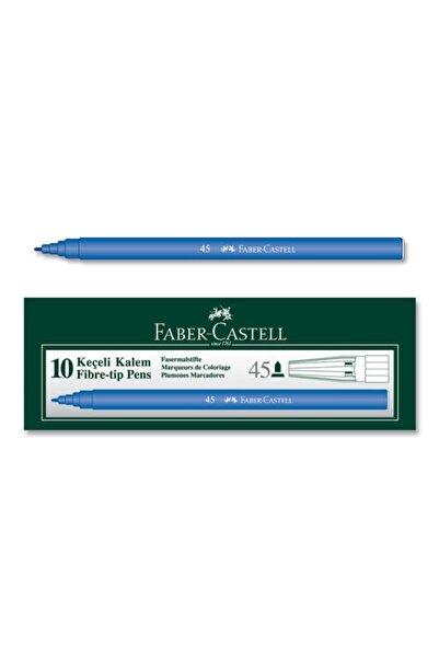 Faber Castell Mavi 45 Keçeli Kalem 10 Lu Kutu