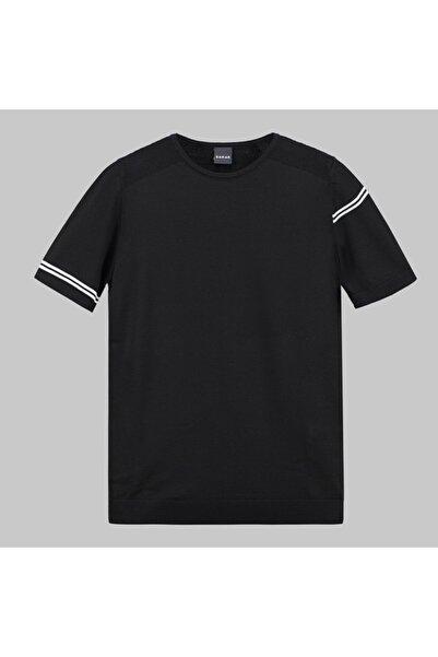 Sarar 0 Yaka Siyah Ince Triko T-shirt