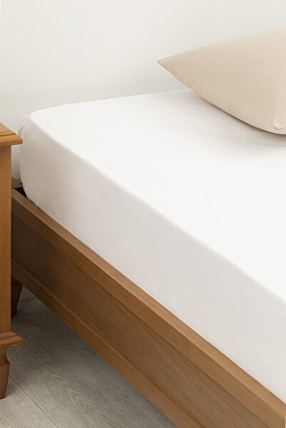 English Home Düz Pamuklu Battal Lastikli Çarşaf 180x200 Cm Beyaz