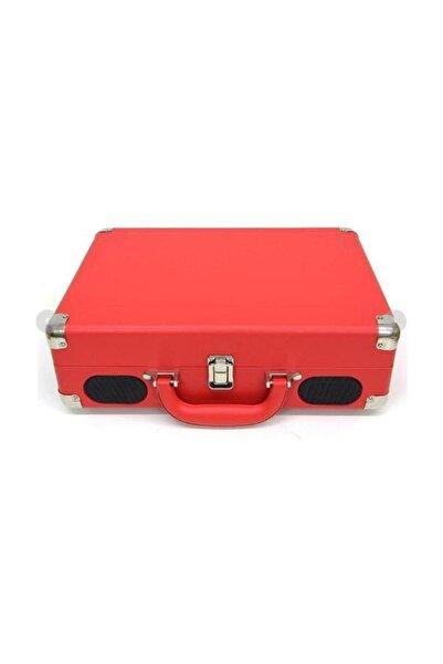 Gringo Forland Çantalı Pikap Bluetooth+ Giriş Plak Çalar Kırmızı