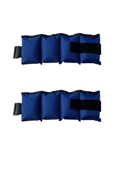 KOZMED Mavi El Ve Ayak Bilek Ağırlığı 2x1 Kg Kum Ağırlık Kum Torbası 2x1kg