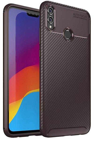 Huawei Honour 8x Kılıf Sert Korumalı Zırh Karbon Fiber Kapak
