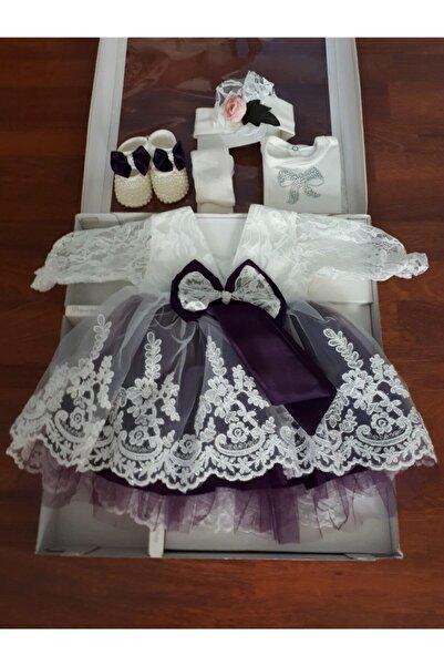 Ponpon Baby Kız Bebek Mevlüt Takımı Mevlütlük Gelinlik Elbise Lohusa Bebek Doğum Hediyesi Baby Shower Seti