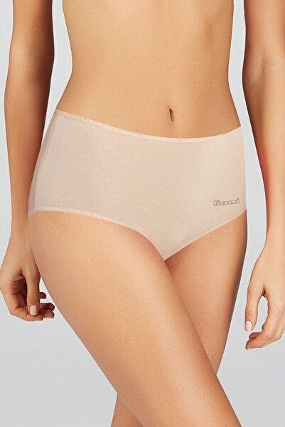 Kom Kadın Ten Basic Maxi 2'li Pamuklu Yüksek Bel Külot Ten Rengi