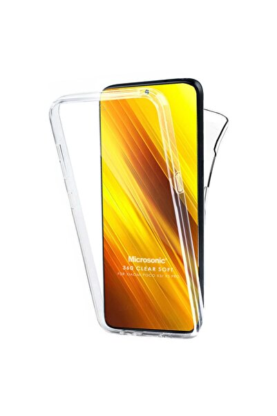 Microsonic Xiaomi Poco X3 Pro Kılıf 6 Tarafı Tam Full Koruma 360 Clear Soft Şeffaf