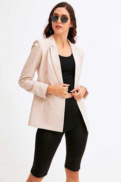 Fulla Moda Cep Detaylı Blazer Ceket