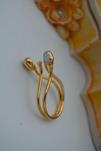 Stoneage Jewellery Tohum Incili Ayarlanabilir Özel Tasarım Kadın Yüzük
