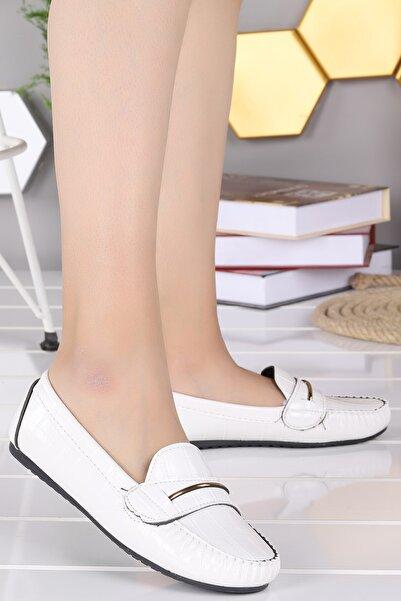 Ayakland Tel Toka Kroko Günlük Yürüyüş Kadın Babet Ayakkabı