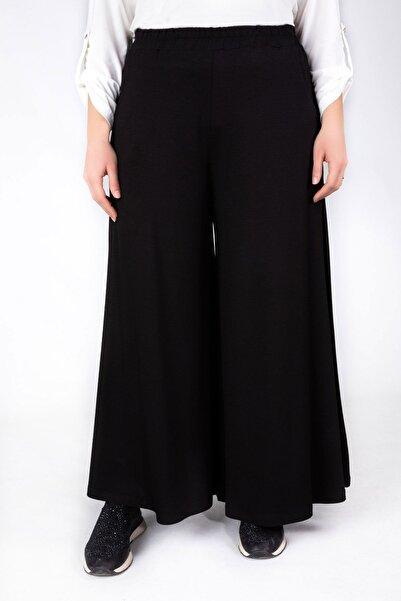 behrem Viskon Etek Pantolon Siyah 10002