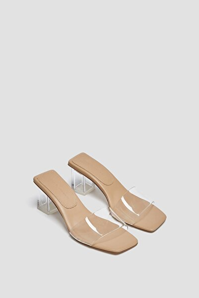 Pull & Bear Vinil Topuklu Sandalet