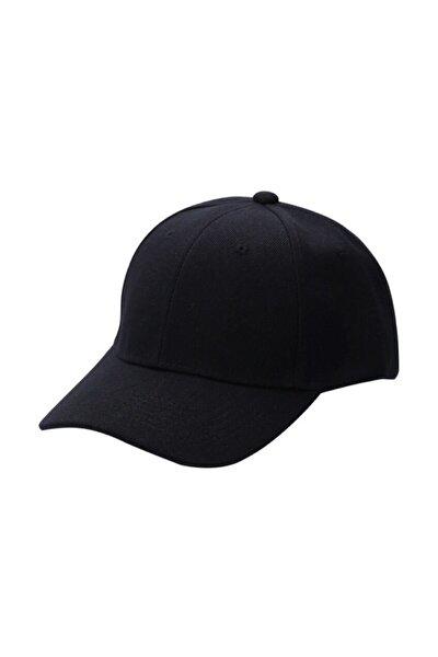 salarticaret Unisex Siyah Spor Arkası Cırtlı Ayarlanabilir Şapka 55-60 Cm