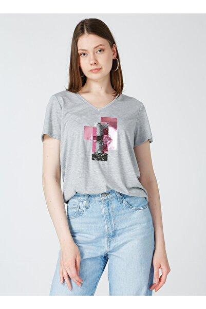 Fabrika Kadın Gri T-shirt