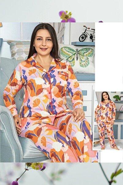HAPPY NIGHT FASHION Large Sıze Pajamas Set