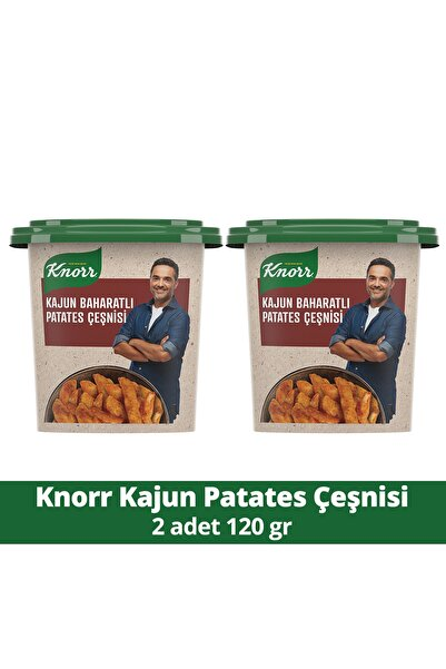 Knorr Kajun Patates Çeşnisi 120 Gr X 2 Adet