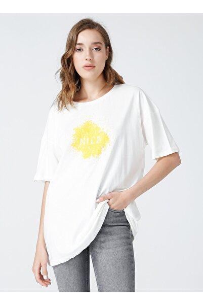 Fabrika Kadın Beyaz T-shirt