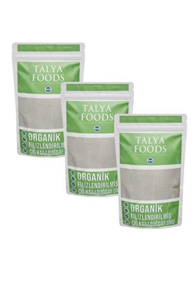 TALYA FOODS Organik Glutensiz Filizlenmiş Çiğ Karabuğday Unu 3 X500 G Avantaj Seti