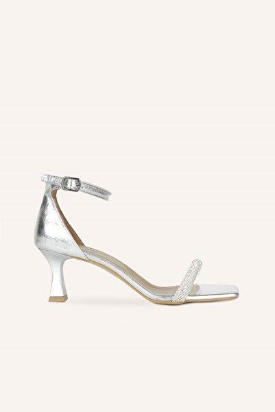 MARCATELLI Gümüş Tek Bant Mini Topuklu Ayakkabı