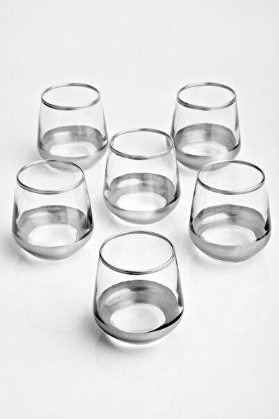 Olcay Home Lüx - Gümüş Küçük Kahve Yanı Bardak - 6 Lı