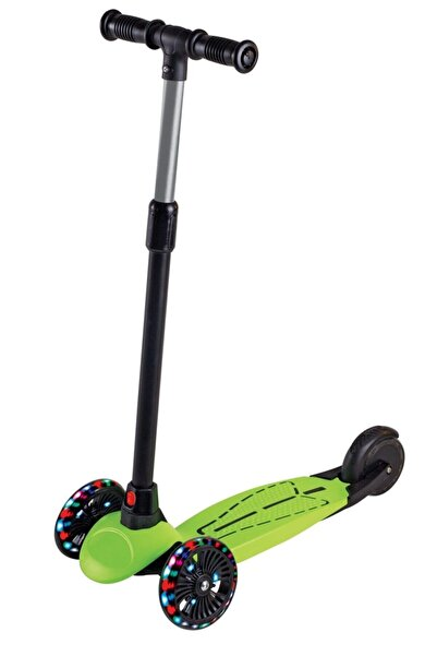 Furkan Toys Dragon Yeşil Led Işıklı Scooter