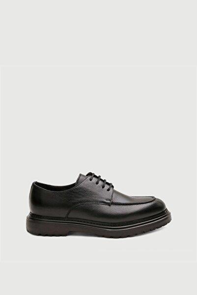 Male Industry Siyah Deri Klasik Ayakkabı