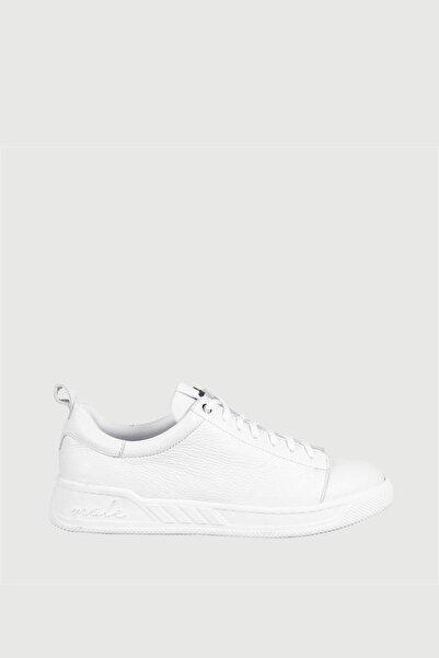 Male Industry Beyaz Floater Deri Erkek Sneaker