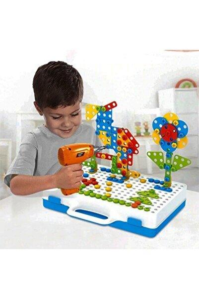 BİRLİK TOYS 11b Matkaplı Vidalama Ve 3d Yaratıcı Mozaik Puzzle 198 Parça Creative Portable Box Yapı Lego Oyunu