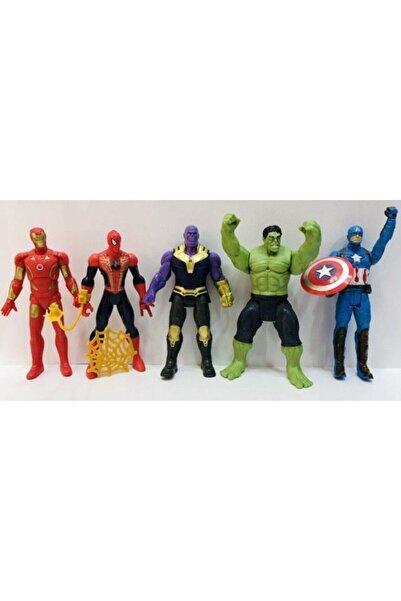 AVENGERS Thanos Hulk Spiderman 16 cm Işıklı Figür Oyuncak 5'li