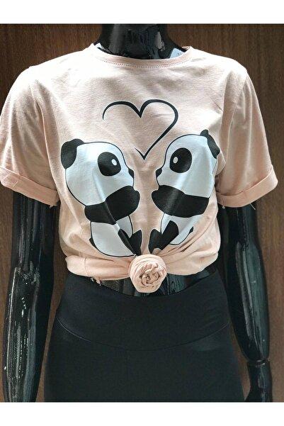 BTS72 Genç Kız Göbek Üstü Bağlamalı Tişört
