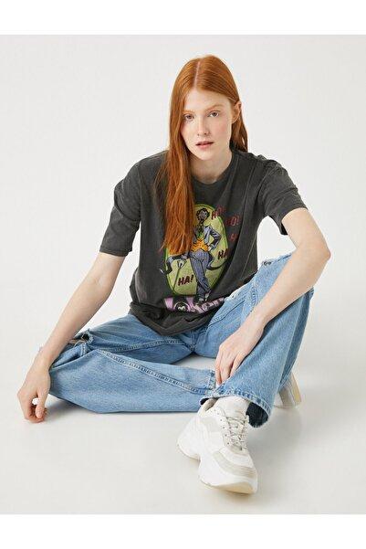 Koton Kadın Joker Tişört Lisansli Pamuklu