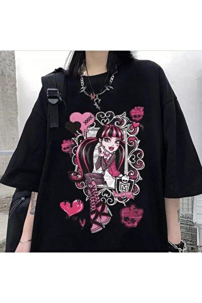Köstebek Window Flowers Gothic Girl Unisex T-shirt