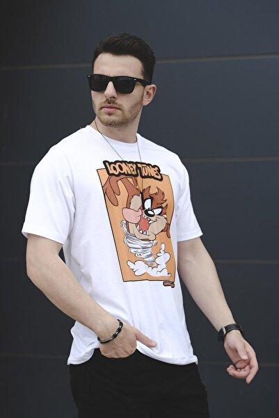 Oksit Unique Tazmania Baskılı Comfort Fit Unisex Tshirt