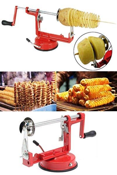 GAT Shop Mutfak Spiral Meyve Elma Armut Ayva Patates Turp Soyma Ve Dilimleme Makinesi Aleti Aparatı