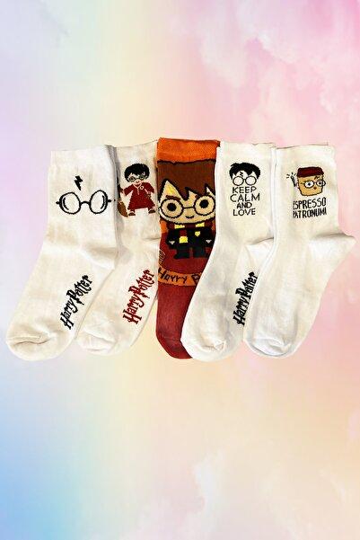 Neşeli Çoraplar Unisex Renkli Fantastik Harry Potter Çorap Seti