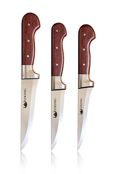 Viking El Yapımı Paslanmaz Çelik Bıçak Seti 3'lü