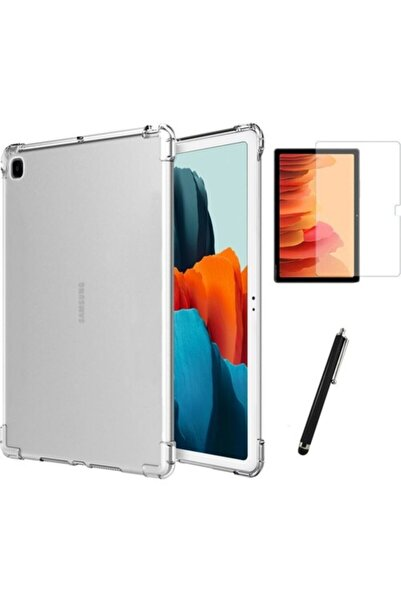 Samsung Galaxy Tab A7 Sm T500 T505 T507 Antishock Tablet Kılıfı + Ekran Koruyucu + Kalem 10.4 Inç